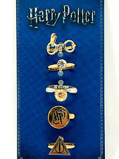 Harry Potter 5er Set Damen Fingerring Ring Schmuck Symbole Logo Brille Snitch