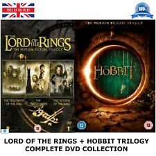 LORD OF THE RINGS + HOBBIT TRILOGY ALL 6 MOVIE FILMS DVD BOX SET NEW ORIGINAL UK