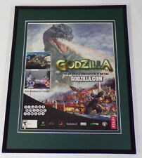 Godzilla 2004 Atari PS2 XBox Framed 11x14 ORIGINAL Advertisement