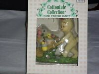 Cottontale Collection Hand Painted Bunny pushing Wheelbarrow