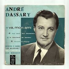 """DASSARY André Vinyle 45T 7"""" EP VA MON AMI F Reduit RARE"""