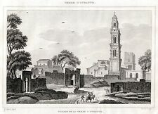 SOLETO, TERRA D'OTRANTO. Salento.Lecce.Puglia.Apulia. ACCIAIO.Stampa Antica.1838
