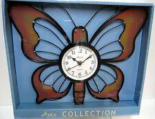 New Butterfly Shaped Black Quartz Metal Wall Clock Butterflies