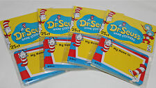 Dr Seuss Cat In The Hat Nametags Name Tags - 100 Count Stickers Birthday