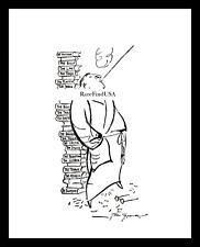 1928-rpt EDGAR WALLACE Dramatist British CRIME WRITER Author Caricature MATTED