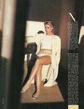 1990s magazine ad, Nicolette Sheridan models Go Silk Robe, Zoran Sweater- 052013