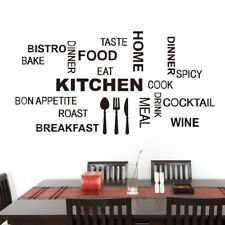 Removable Letters Kitchen Art Decor Vinyl Wall Sticker Mural DIY Home Room Decal