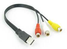 USB Male to 3 RCA RGB Female Video AV A/V Converter Cable HDTV TV Television