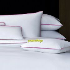 Yves Delorme Amity All White King Duvet Cover Pink Ribbon Trims Cotton NEW $480