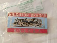 More details for aslef train drivers commerative pin badge brighton depot. #020