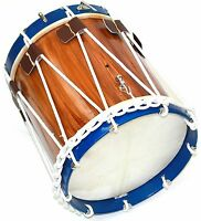 """CIVIL WAR DRUM COLONIAL MARCHING REVOLUTIONARY MEDIEVAL 14"""" INCH SNARE BLUE RIMS"""
