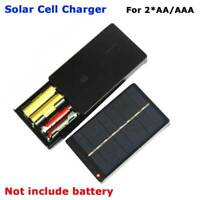 1W 4V Solar Cell Panel Charging Device 2*AA/AAA Rechargeable Charger Battery o