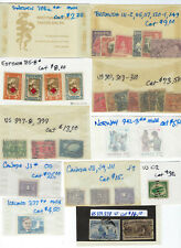 WORLDWIDE stamp lot incl UNITED STATES, used, unused and MNH Cat Value $280+