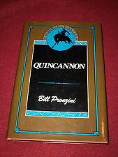 Quincannon by Bill Pronzini (1985, Hardcover) First print Walker Fine in Fine