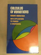 CALCULUS OF VARIATIONS, WITH APPLICATIONS TO  - ROBERT WEINSTOCK (PAPERBACK)
