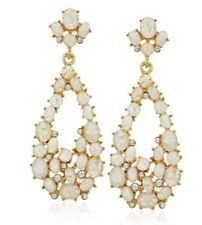 NEW Anthropologie BHLDN Kenneth Jay Lane Wedding Drop Opal Teardrop Earrings