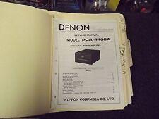 Denon POA-4400A Service Manual - Factory Original