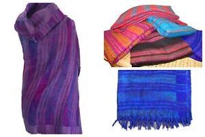 Woven Cashmelon Acrylic Wool Shawl Blanket Wrap Cashmelon Magic Vegan Colourful