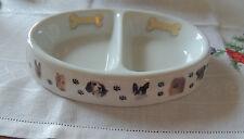 BOWWOWMEOWS Ceramic Dog Bowl with DOUBLE BOWL