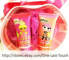 LALALOOPSY 4pc BATH TIME WASH+LOTION+LOOFAH+ LALALOOPSY HEAD SHAPED TOTE New!