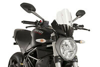 PUIG PARE BRISE NAKED N.G. TOURING DUCATI MONSTER 797 17-20 TRANSPARENT