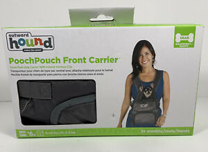 Outward Hound Pooch Pouch Front Carrier ~ Small size 0-10 lbs ~ Grey + Free Ship