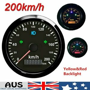 85mm GPS speedometer 0-200km/h Odometer For Car Truck SUV ATV Motorcycle Boat AU