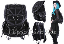 RESTYLE O-Ring Harness Black Denim Synthetic Leather Nu Goth School Bag Backpack