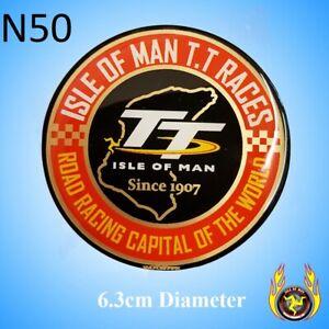 Isle of Man TT Road Racing Capital of the World 1907 Gel Badge Sticker