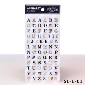 74-Designe Sticker Alphabet glitzernde verschönen von Geschenken Stickeralbum