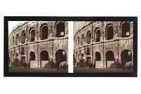 Nîmes Arena Frankreich Foto C16 Stereo Platte De Verre Vintage 1928