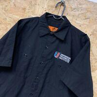 Red Kap Workwear Work Short Sleeve Shirt Black USA Size Medium M