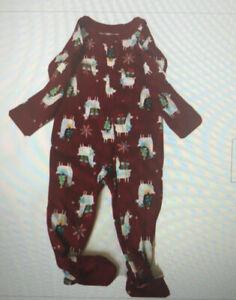 WONDERSHOP Baby Family Llama Pajamas 1 Piece Holiday footed Sleeper 3-6 MO NEW