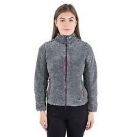 Trespass Muirhead Women Grey Fleece Heavyweight Full Zip Hiking Jumper