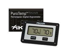 Xikar PuroTemp Rectangle Digital Hygrometer - 833xi