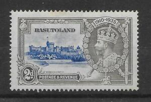 BASUTOLAND SG12f 1935 SILVER JUBILEE 2d LINE BY TURRET VAR MTD MINT