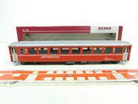 BR28-0,5 # Bemo H0m / Dc 3250 137 Vagón Unidad / Vagones B 2357 Rhb ,Mint + Box