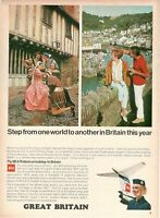 1967 Original Advertising' Vintage Bea Airways Airlines British Great Britain 1a
