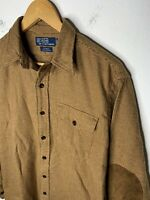 Polo Ralph Lauren Small Bowen Houndstooth Thick Shirt VTG RRL Hunting Leather