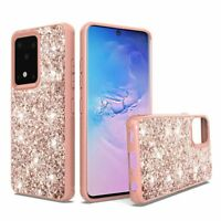 Samsung Galaxy s20 Ultra s11 Plus s11+ 6.9inch Sparkle Glitter Bling Rose Gold