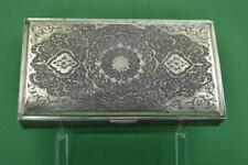 Vintage Islamic Silver table Cigarette box Fine Chased details 360 gr quality