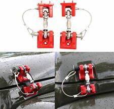 QUAKEWORLD Stainless Steel Black Latch Locking Hood Catch Kit for Jeep Wrangler JK Unlimited Accessories 2 Door 4 Door 2007-2018 Hood Lock Pair