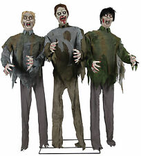 Halloween LifeSize Animated SCARY MOANING ZOMBIE HORDE Prop Haunted House NEW