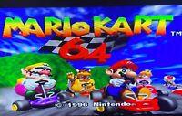 Authentic Mario Kart Nintendo 64 N64 Video Game Super Fun Cart Racing Party OEM