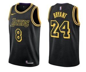 Nike Lakers Kobe Bryant Black Mamba City Swingman Edition Jersey #8/24 Youth LG