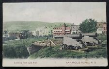 ANTIQUE CANADA POSTCARD ANNAPOLIS ROYAL NOVA SCOTIA 1906 Massachusetts postmark