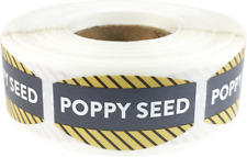 Poppy Seed Grocery Market Stickers, 0.75 x 1.375 Inches, 500 Labels Total