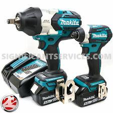 "Makita XWT08Z XDT14Z 18V LXT Brushless 5.0 Ah 1/2"" 1/4"" Impact Wrench Driver Kit"