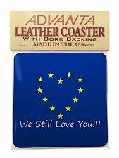 British Brexit, Europe 'We Still Love You' Single Leather Photo Coa, BRITISH-4SC