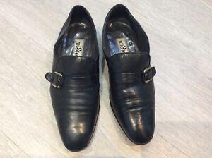 Mister handmade black vintage loafers size uk 6